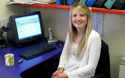Lucy Maule at the Fresh Tracks office