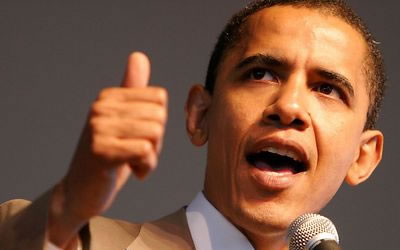 Barack Obama talking about change